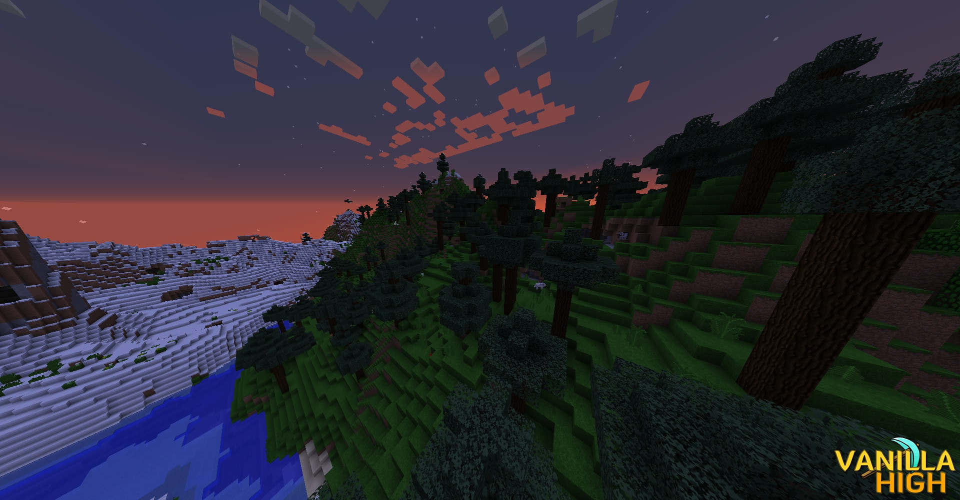 From Further Exploring I Found... - Nothing but snow, and then a beautiful scene at the sun rose into the sky.
