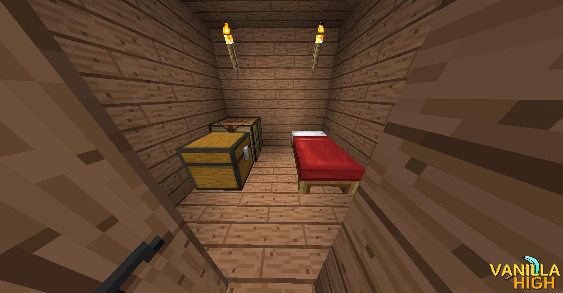 Inside Hut -